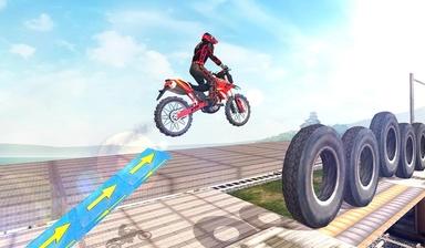 摩托车特技表演游戏