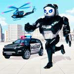 警察熊猫机器人游戏