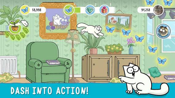 西蒙的猫跑酷破解版