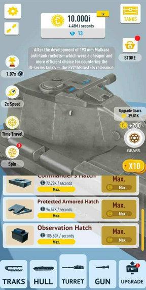 放置坦克破解版