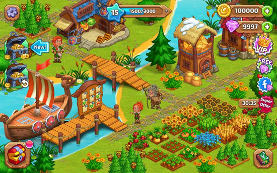 北龙岛建造维京农场