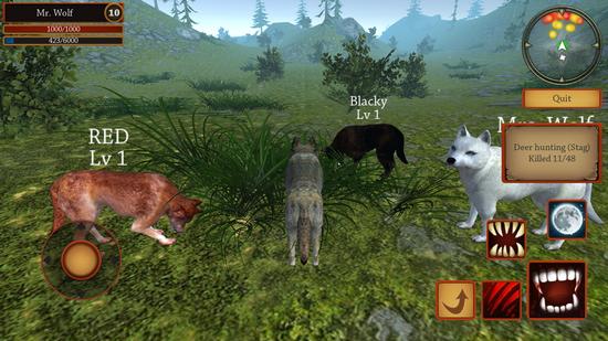 狼模拟进化游戏