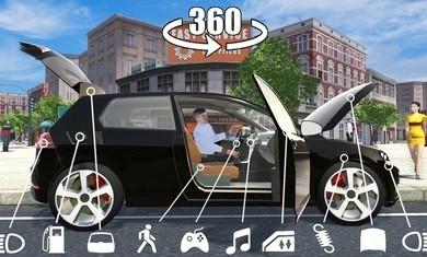 汽车模拟器高尔夫游戏