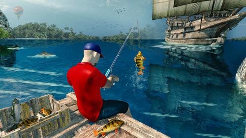 卷轴钓鱼模拟器游戏