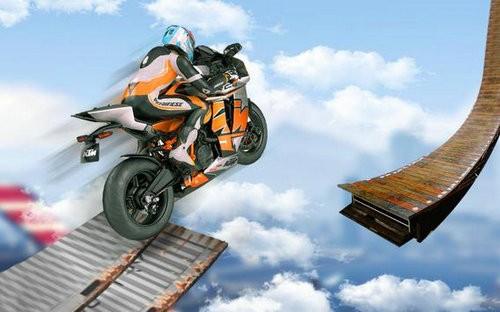不可能的赛道3D摩托车特技