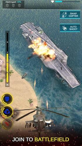 武装直升机战争直升机打击游戏